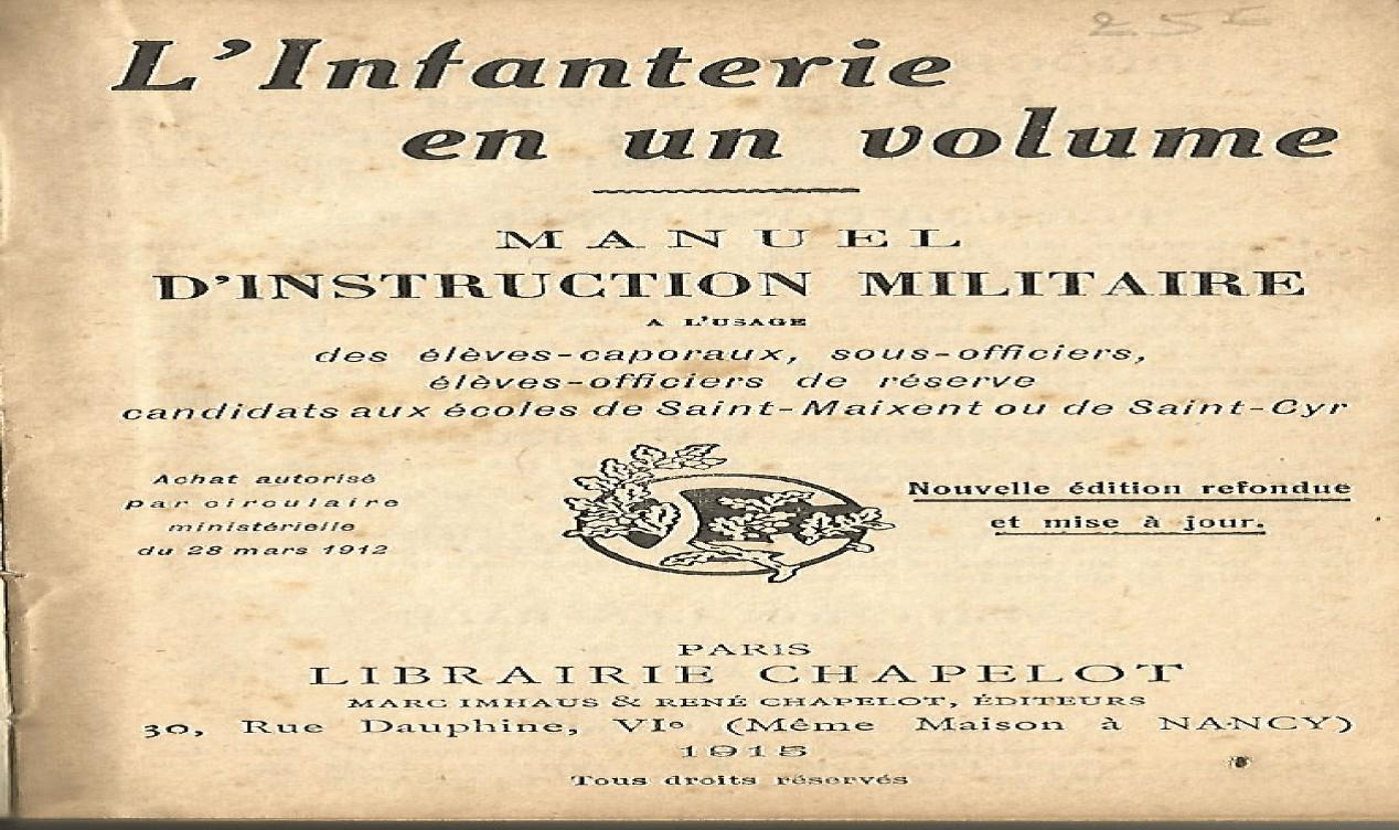 L infanterie en un volume